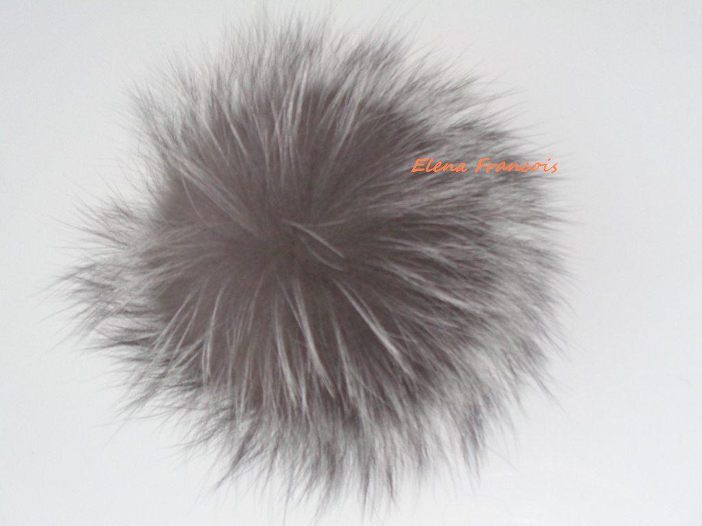 Lüxus  Echt Pelz Bommel Silberfuchs 14 15