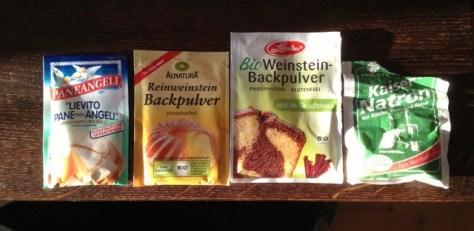 Was sind Triebmittel oder Backtriebmittel - Was ist besser - Backnatron Backpulver Weinstein Hirschhornsalz oder Pottasche