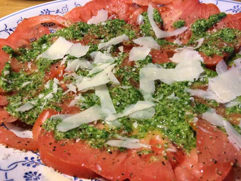 coeur de boeuf tomaten recept dressing pesto