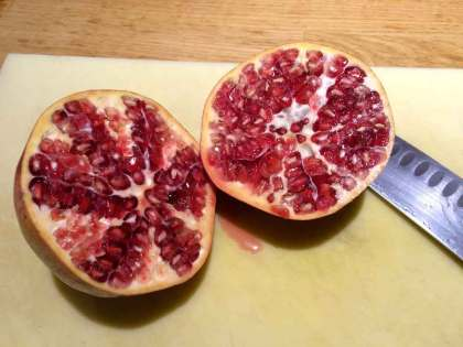 Granaatappel-witloofsalade gezond gerecht