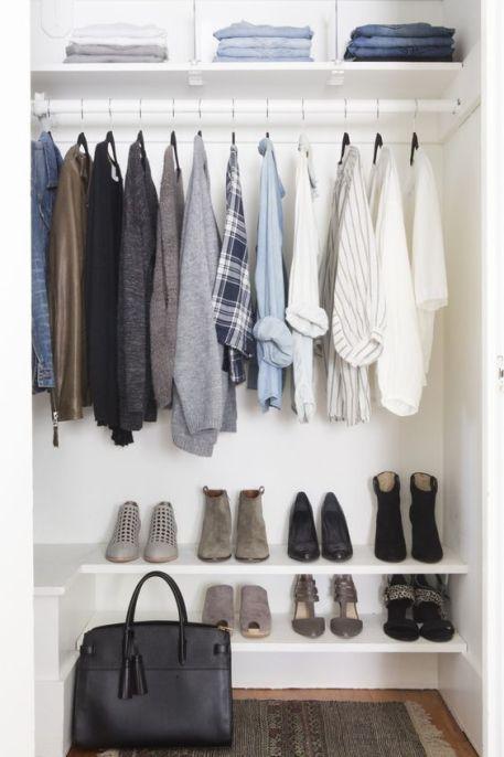 Perfekte Garderobe Kleiderschank minimalistisch capsule