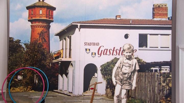 Die Stadtbad Gaststätte vor dem Schwimmbad existiert heute nicht mehr. © Stephanie Angel, Stadt Wolfenbüttel