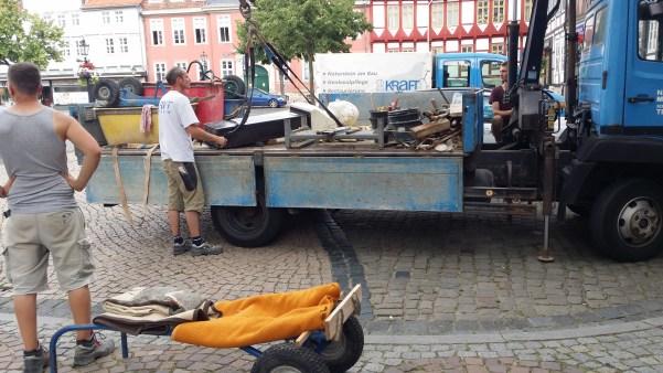 """Mit diesem """"Taxi"""" kam der neue Kollege vorgefahren © Stadt Wolfenbüttel, Fotograf: Donata Sengpiel-Schröder"""