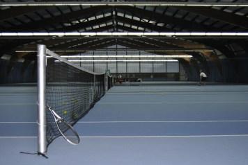 Die 5 Tennisplätze im KOMM