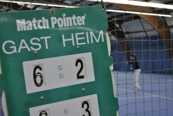 Anzeigetafel Tennisspiel