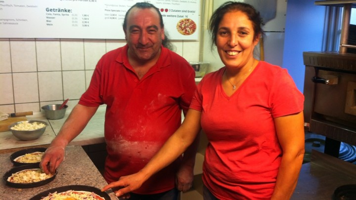 Die freundlichen Seelen der Pizzeria Tomato