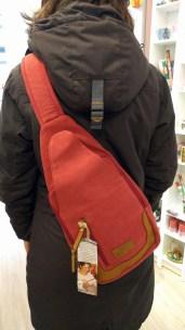 Der Rucksack lässt sich über beiden Schultern tragen. ©Stephanie Angel, Stadt Wolfenbüttel