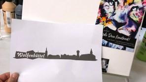 Nach dieser Vorlage darf ich nun mein eigenes Gemälde von Wolfenbüttel kreieren. Das klappt nie!!! / © Jan-C. Ahrens, ZeitOrte