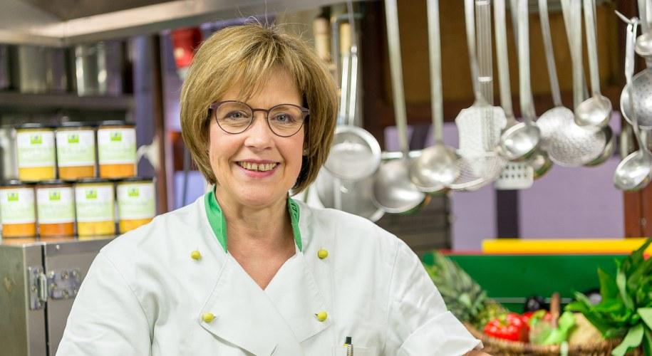 Susanne Röder in ihrem Gourmetmarkt Röber