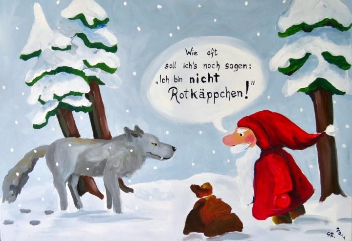 Ein witziges Comic-Bild von Susanne Röder.