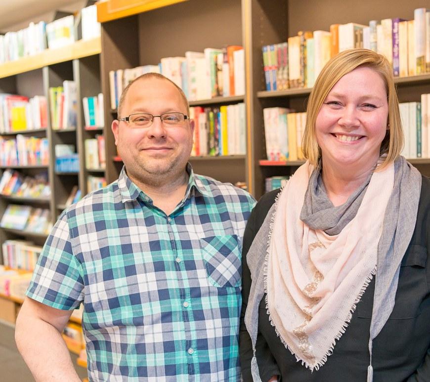 Almut und Marco Runge von der Buchhandlung Steuber.