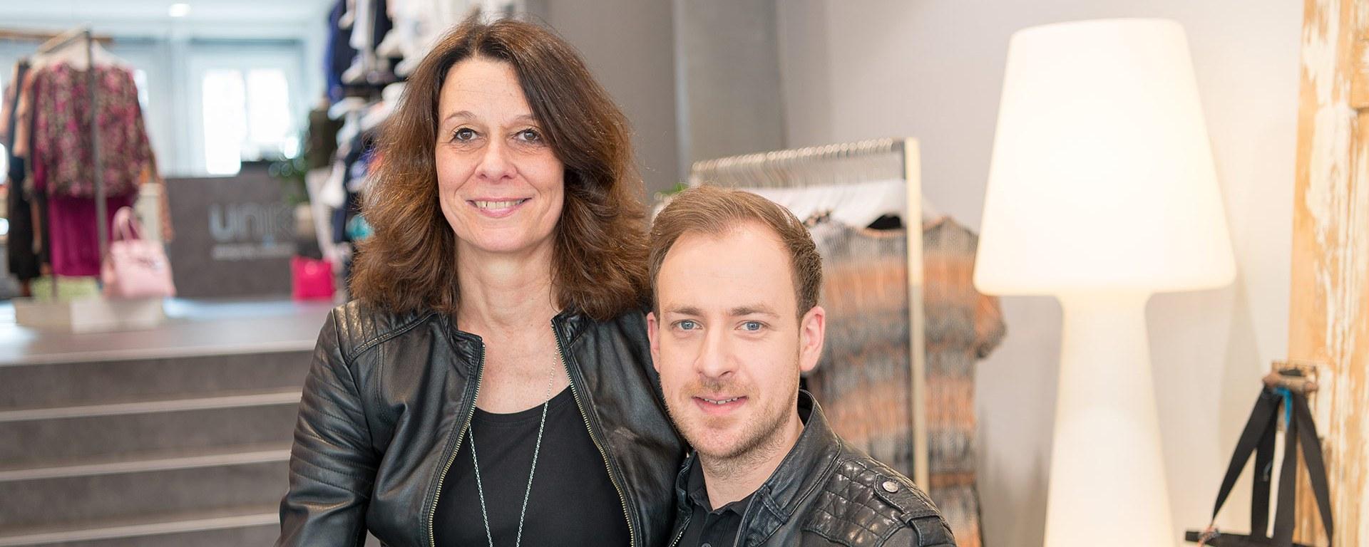 Susann Hesse und Martin Koj vom Modegeschäft UNIK.