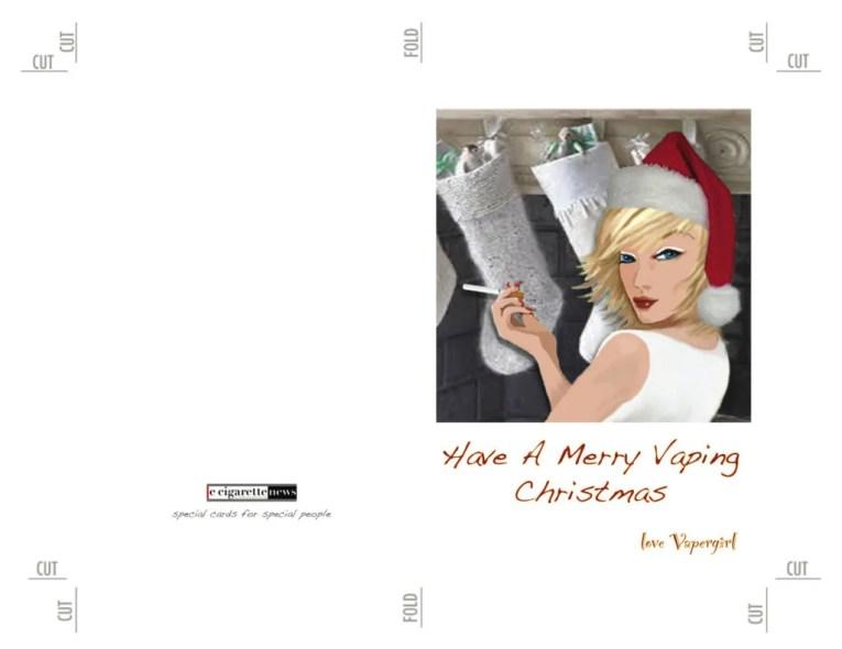 Vaper Girl Christmas Card