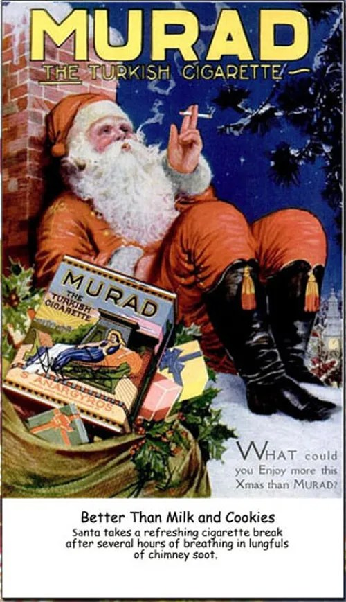 Fractured Christmas Ad-Santa Smoking- e-cigarette news