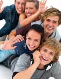 happy, smiling teens, teenagers