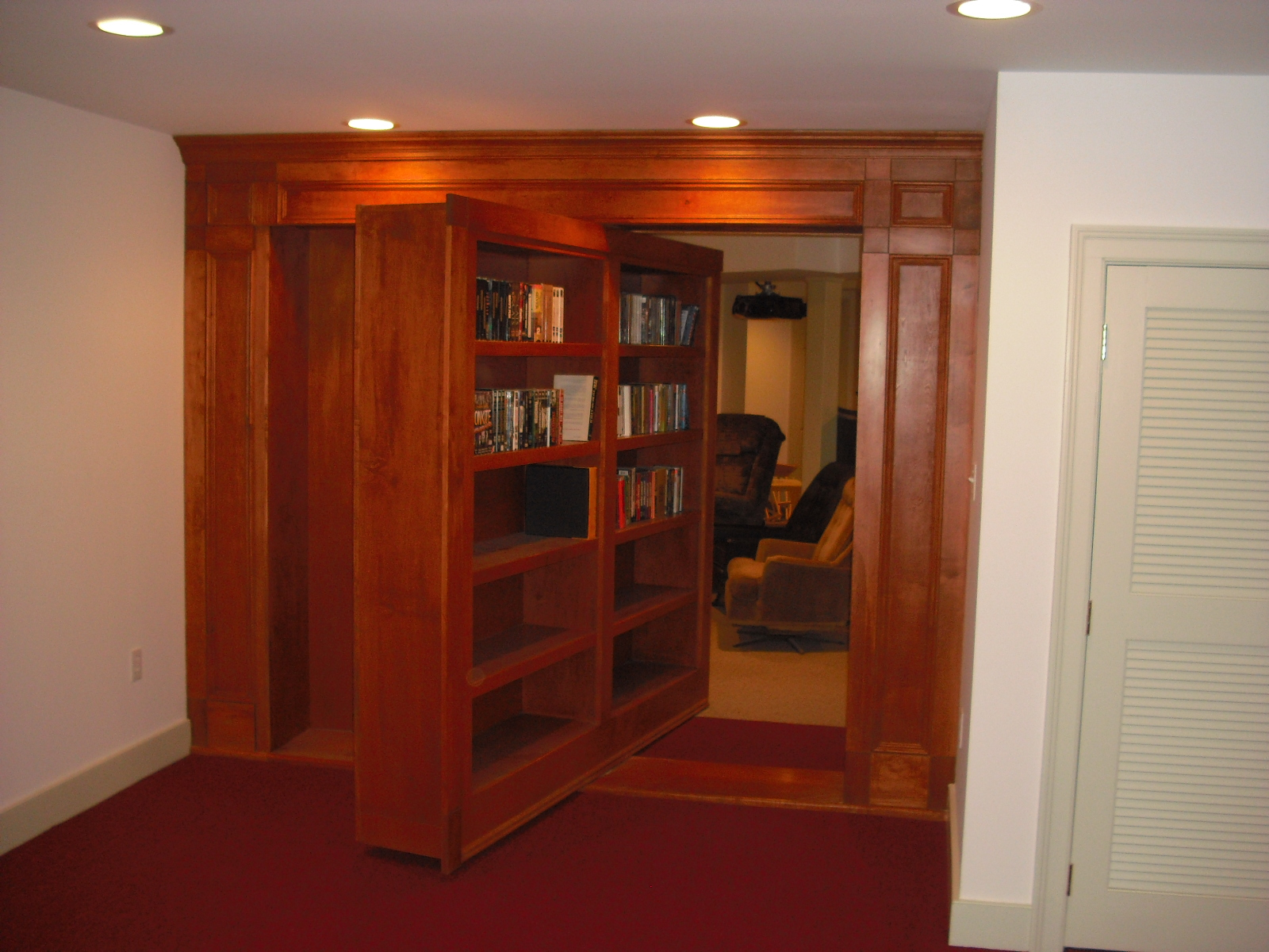 Office With Secret Revolving Bookcase Entry Eckelman