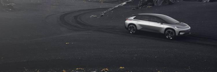 Bild des Elektroauto-Prototypen Faraday Future FF91 in Island, Foto: Faraday Future