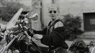 Kathy Acker on Bike