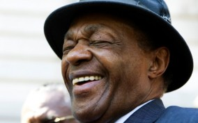 "Former Washington, D.C. Mayor Marion Barry cracks a joke about his popularity: ""I am clearly more popular than Reagan. I am in my third term. Where's Reagan? Gone after two!"""