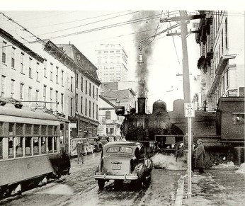 Historic photo of Downtown Lancaster featuring The Griest Building