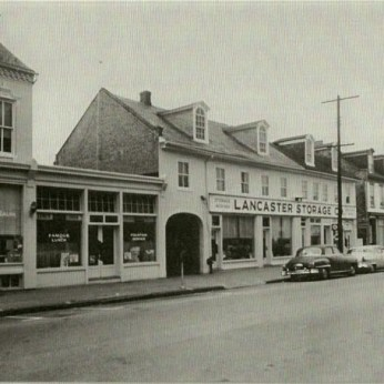Historic photo of the 300 block of North Queen St.