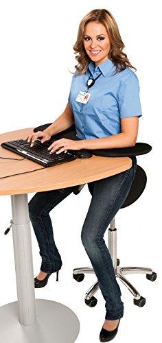 Drehbarer Pauner Sattelstuhl mit dem ergonomischen zweigeteilten beweglichen Sitz -