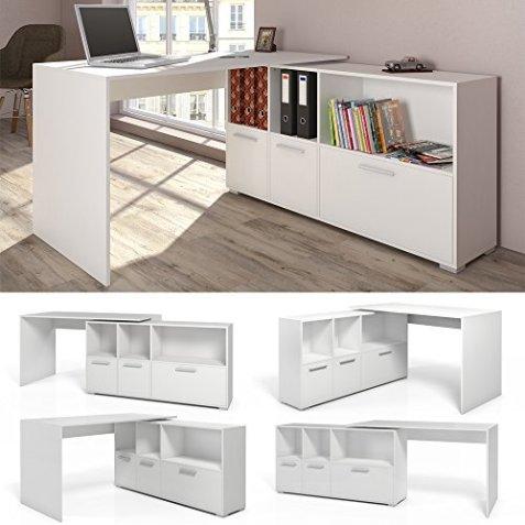 Stylisch Und Praktisch Der Eckschreibtisch Weiß Schreibtisch Von