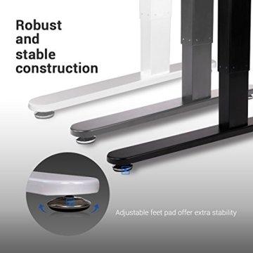 Flexispot E2B Höhenverstellbarer Schreibtisch Elektrisch höhenverstellbares Tischgestell, passt für alle gängigen Tischplatten. Mit Memory-Steuerung und Softstart/-stop. -