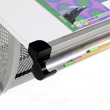 IDIMEX Mads Höhenverstellbarer Kinderschreibtisch, Metall, weiß, 111 x 60 x 72 cm -