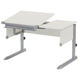 Kettler Schülerschreibtisch Kids Comfort – Farbe: weiß und silber – Schreibtisch hochwertig und flexibel einstellbar – Artikelnummer: 06603-4270 -