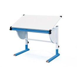 Links 51066450 Schreibtisch Kinderschreibtisch für Kinder, Holz mit Stiftablage, höhenverstellbar und neigungsverstellbar, blau -
