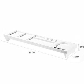 CYBERNOVA Holz Schreibtisch Organizer Kleine Objekte Storage Tastatur Ware Regal,Stauraum für Stationery Gegenstände -