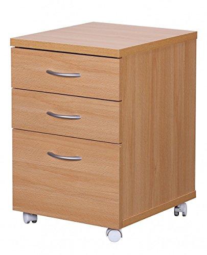 Rollcontainer design hoch  Kettler Rollcontainer aus Holz – Schreibtisch Rollcontainer mit 3 ...