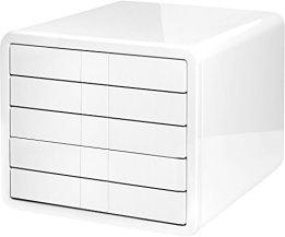 HAN 1551-12, Schubladenbox i-Box, Innovative und Designpreis ausgezeichnete Box in Premium Qualität. Mit 5 geschlossenen Schubladen, weiß -