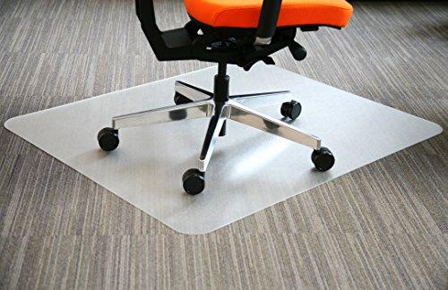 Airocell Petex PET Bodenschutzmatte, 120 cm x 100 cm mit abgerundeten Ecken, rutschfest, transparent für Hartböden, Laminat-Parkett-Venyl-Fliesen. Transparent -