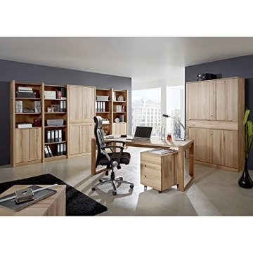Exkl. Komplett Büromöbel Set Kernbuche massiv Büro Arbeitszimmer Schreibtisch -