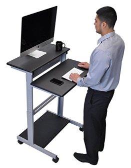 Mobiler ergonomischer Stand-up-Computerschreibtisch (Schwarz, Schreibtisch Länge: 80cm) -
