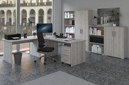 Phoenix Sonoma Sorrento Büro-8tlg. Bürozimmer, Büromöbel, Arbeitszimmer, Büroeinrichtung, Holz, 120 x 80 x 210 cm -
