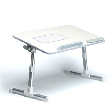 Takit BT4 - Verstellbarer Laptoptisch, Tragbares Stehpult, Klappbarer Frühstückstisch, Notebookständer – Grau -
