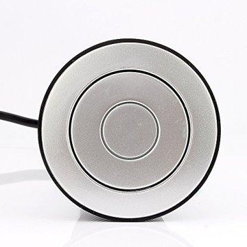 Yosoo Versenkbar Tischsteckdose 4 Fach Steckdose Steckdosenleiste mit USB Ladegerät, Anschlusskabel: ca. 155cm -