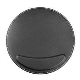 BXT® 3D Ergonomische PU-Leder Mauspad und Schwamm-Handgelenkauflage Komfortauflage Kreisförmig Mousepad Rutschfeste Unterseite Anti-Staub einfach zu reinigen - 1