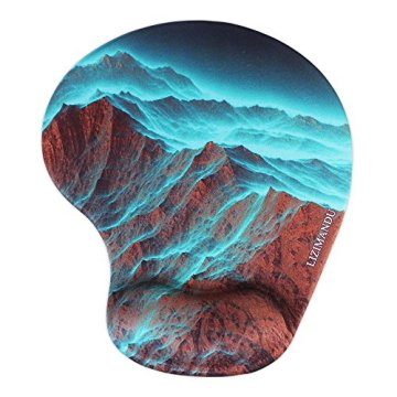 Handgelenkauflage Mouse pad ,Lizimandu rutschfeste Gummi-Unterseite gleichmäßige Maussteuerung ergonomisches Komfort Mauspad mit Handauflage(Rock Mountain/Rock Mountai) - 1
