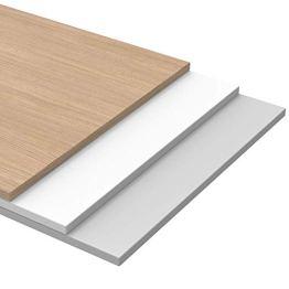 boho möbelwerkstatt Do IT Yourself Tischplatte Holzplatte Schreibtischplatte 180 x 80 x 2.5 cm in Weiß (RAL9010) mit Hoher Kratzfestigkeit und 120 kg Belastbarkeit - 1