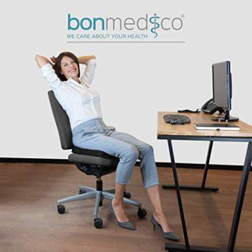 bonmedico Comfort Cushion, Ergonomisches Sitzkissen für besten Sitzkomfort, Stuhlkissen für Büro & Home Office aus innovativem Memory Foam, Sitzpolster universell einsetzbar - 2