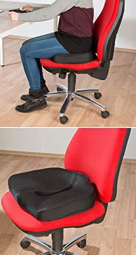 newgen medicals Autositzkissen: Ergonomisches Memory-Foam-Sitzkissen für Auto, Schreibtisch u.v.m. (Sitzpolster) - 5