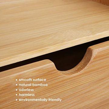 Homfa Bambus Schreibtisch Organizer 20x13x21cm Aufbewahrungsbox Organisation Stiftebox Stifteköcher Stiftehalter Schreibtischorganizer - 7