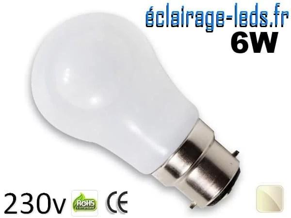 Ampoule Led B22 liquide 6w blanc Naturel IP65 230v