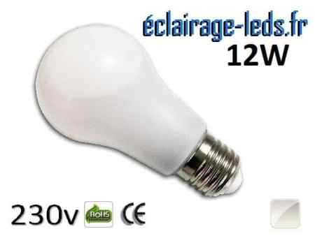 Ampoule led E27 liquide 12w SMD blanc naturel 4500K 230v AC ref f007-2