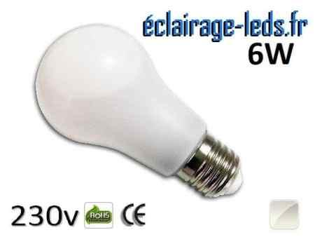 Ampoule led E27 liquide 6w SMD blanc naturel 4500K 230v AC ref f004-1