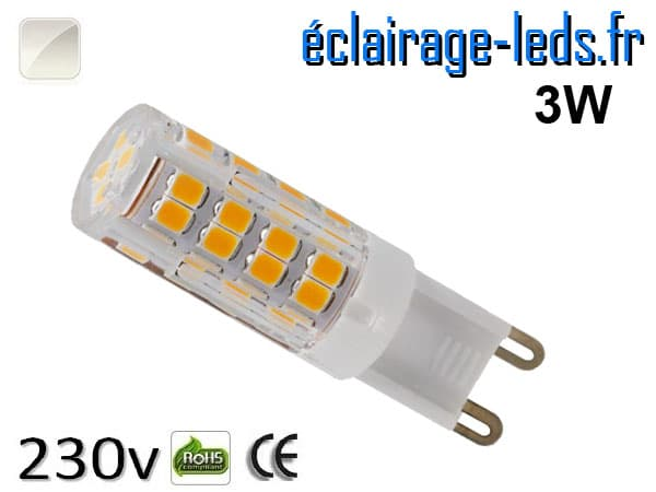Ampoule LED G9 3w smd 2835 blanc naturel 230v